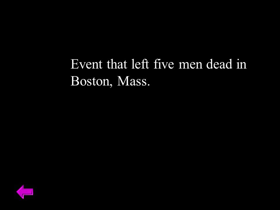 Event that left five men dead in Boston, Mass.