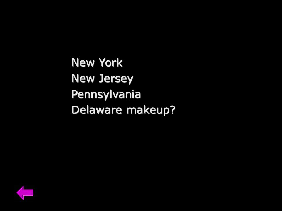New York New Jersey Pennsylvania Delaware makeup