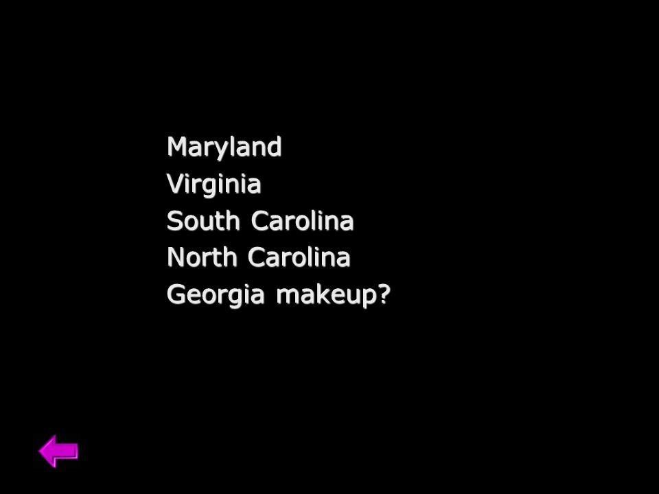 MarylandVirginia South Carolina North Carolina Georgia makeup