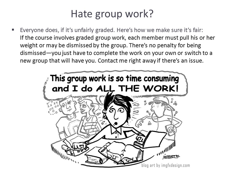 Hate group work.  Everyone does, if it's unfairly graded.