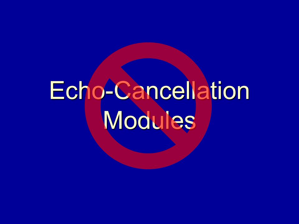 Echo-Cancellation Modules