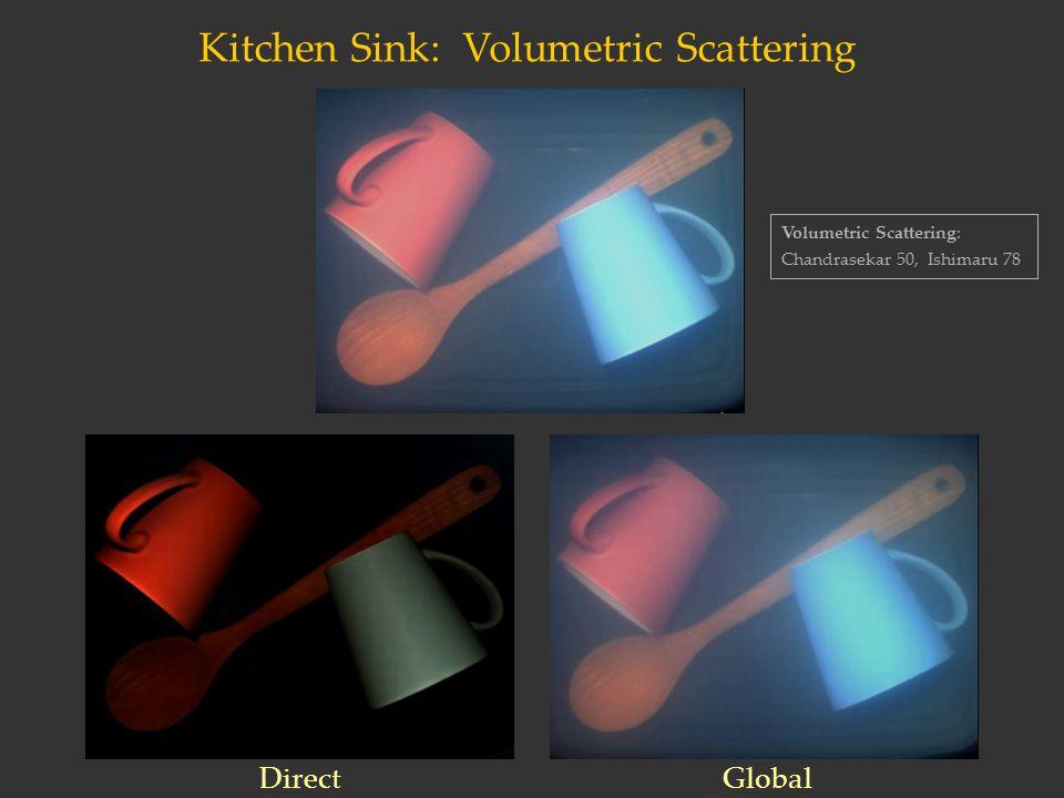Kitchen Sink: Volumetric Scattering Volumetric Scattering: Chandrasekar 50, Ishimaru 78 DirectGlobal