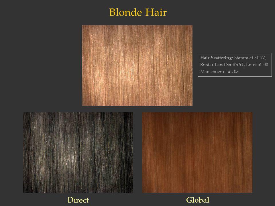 Blonde Hair Hair Scattering: Stamm et al. 77, Bustard and Smith 91, Lu et al.