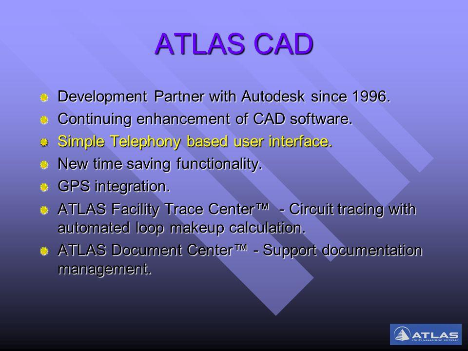 ATLAS CAD Development Partner with Autodesk since 1996.