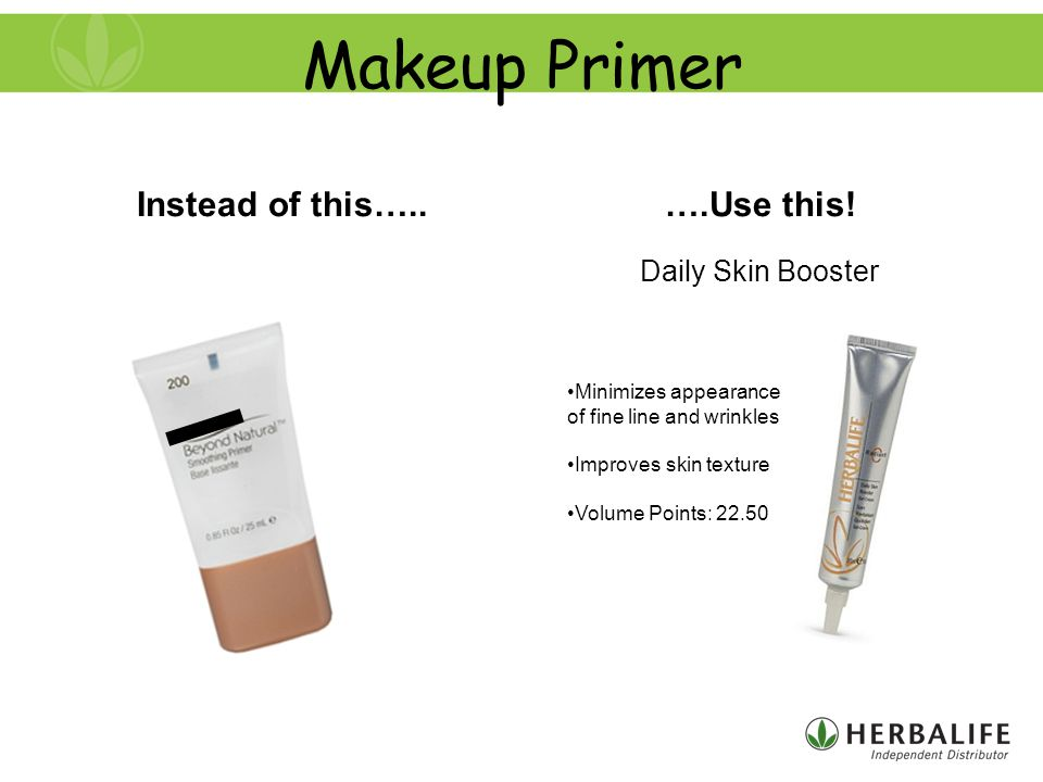 Makeup Primer Instead of this…..….Use this.