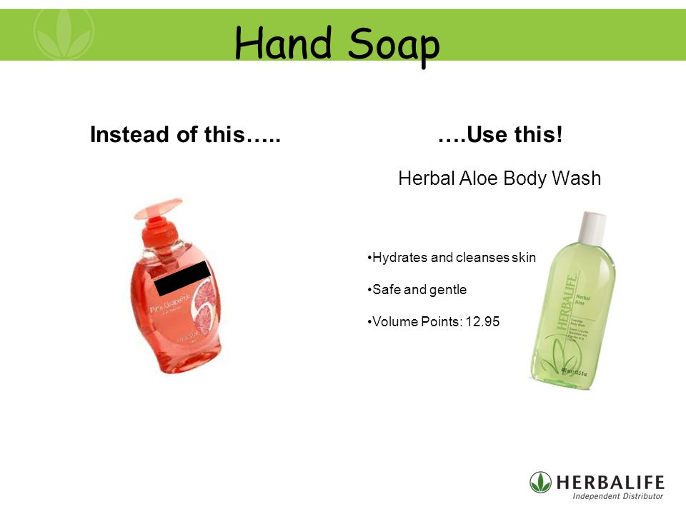Hand Soap Instead of this…..….Use this.