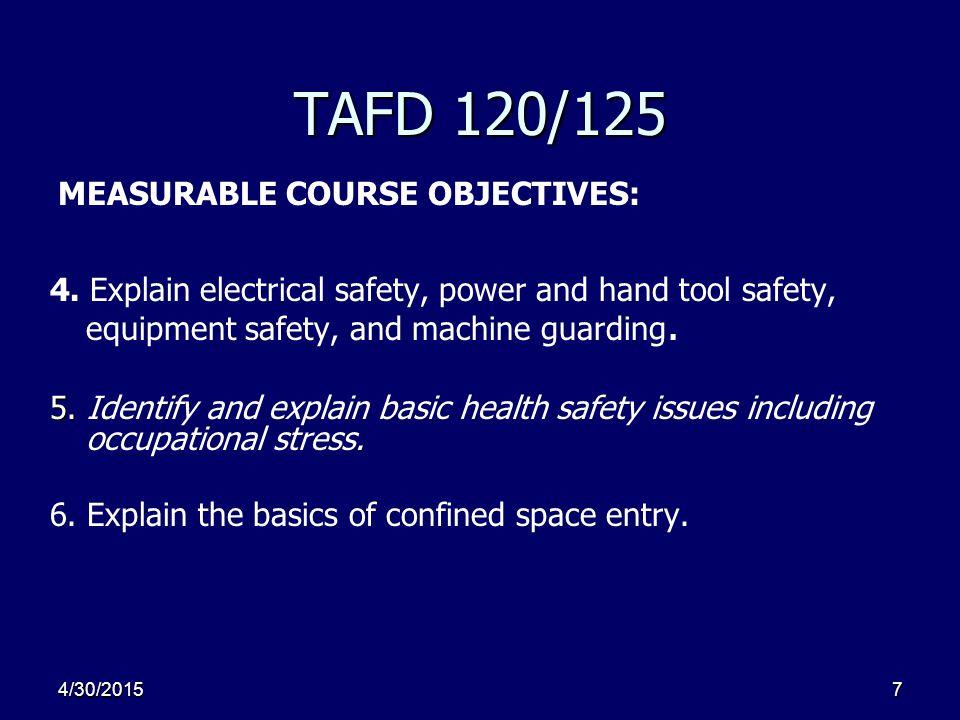 4/30/20157 TAFD 120/125 4.