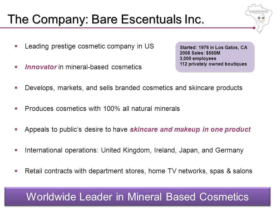 The Company: Bare Escentuals Inc.