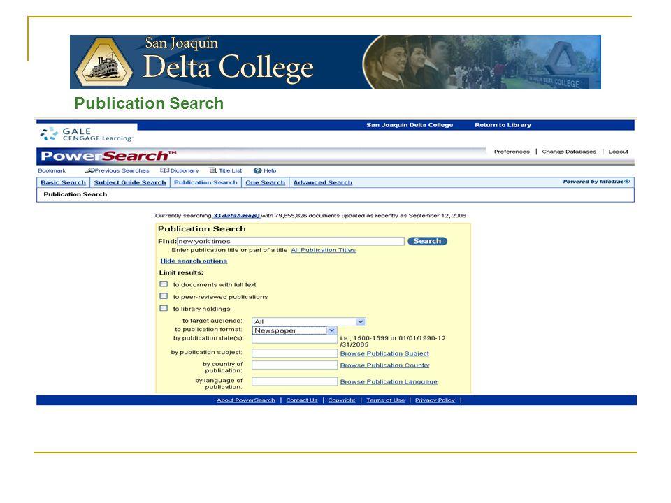 Publication Search
