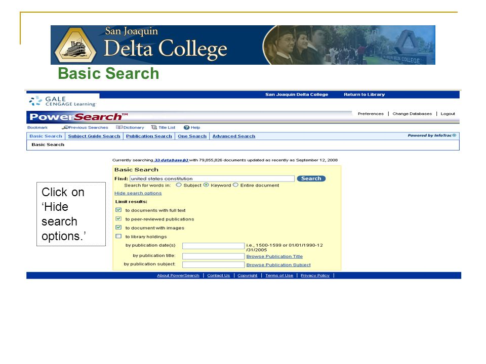 Basic Search Look at 'Results'