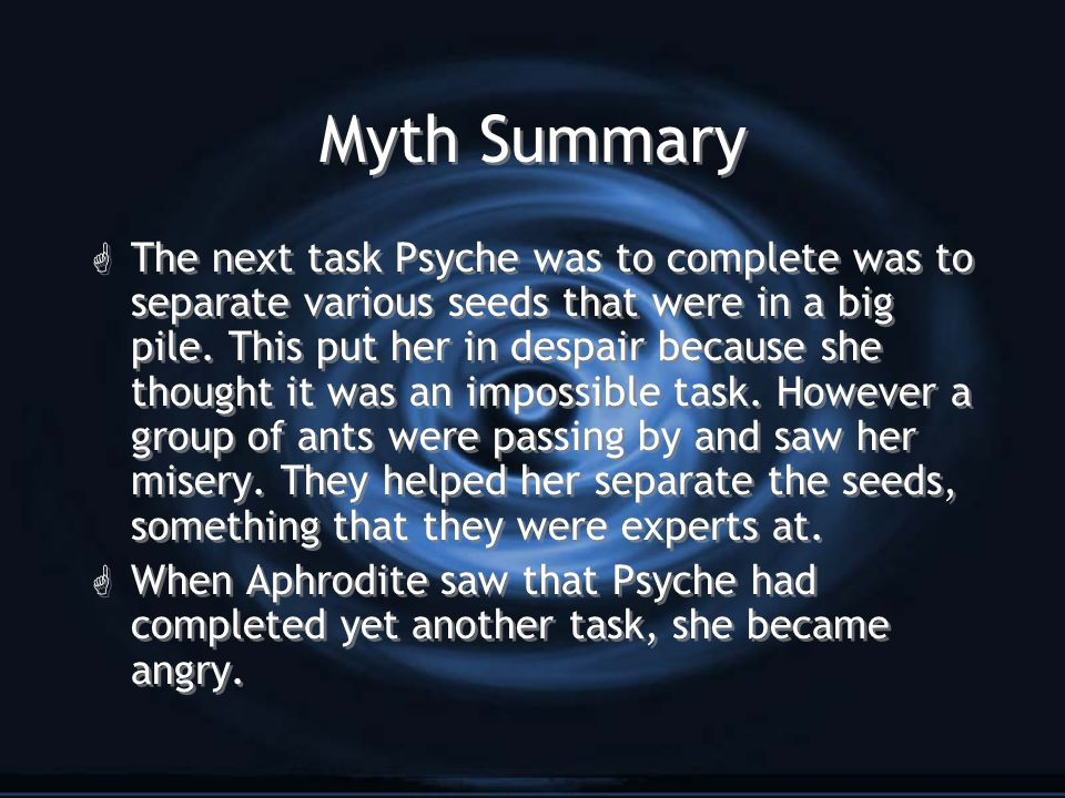 Myth Summary G The last and final task was very dangerous.