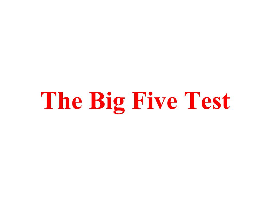 The Big Five Test