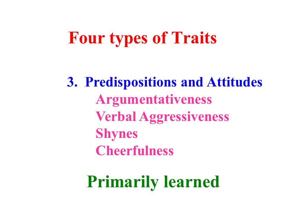 Four types of Traits 3.