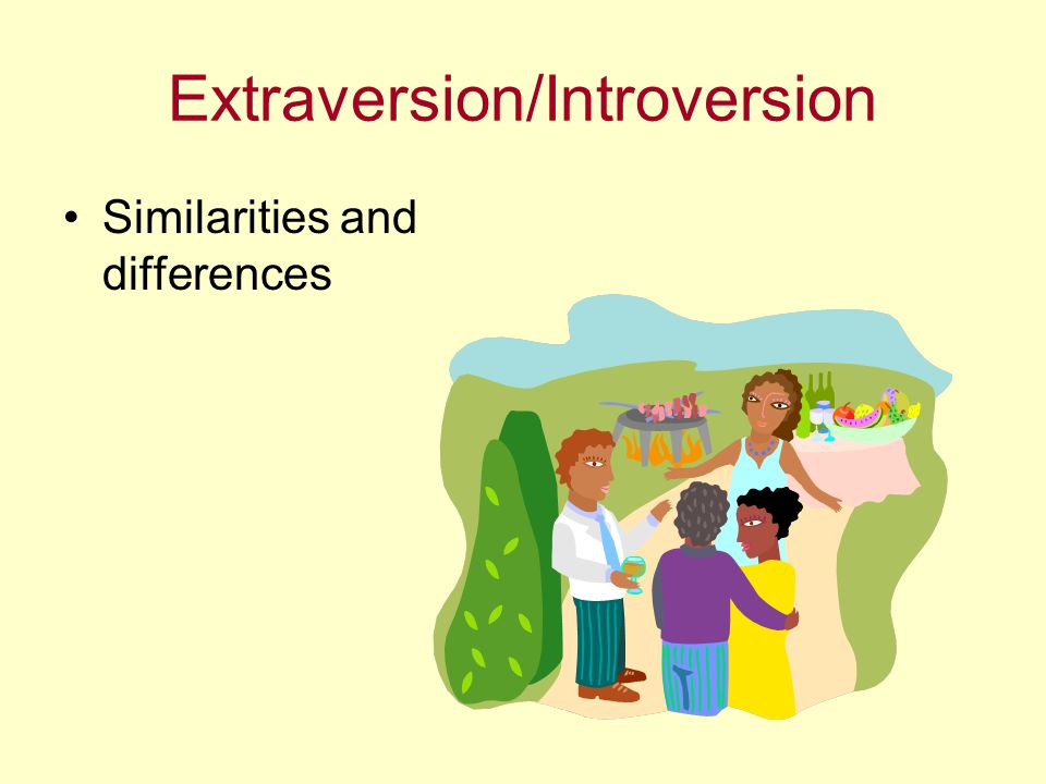 Extraversion/Introversion Similarities and differences