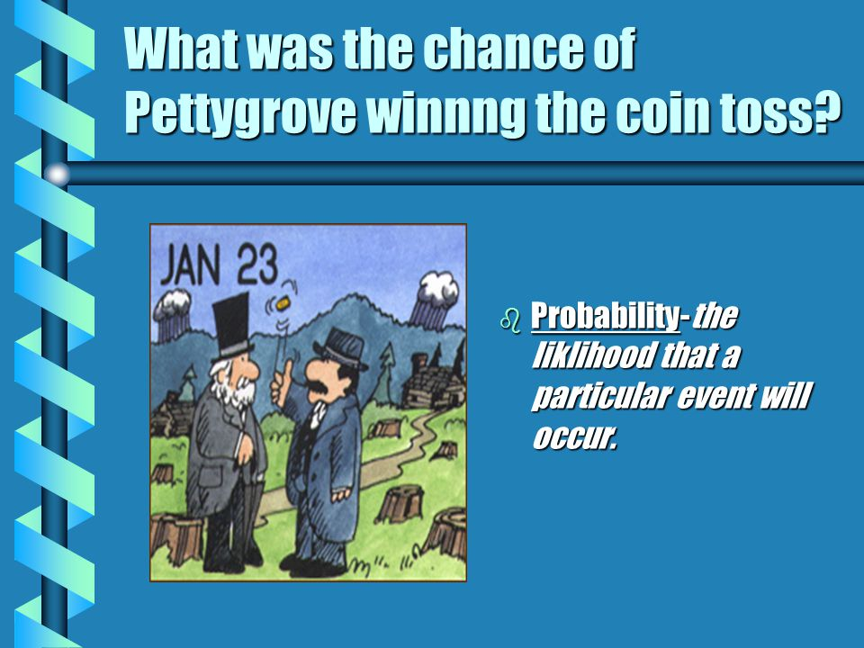 What was the chance of Pettygrove winnng the coin toss.