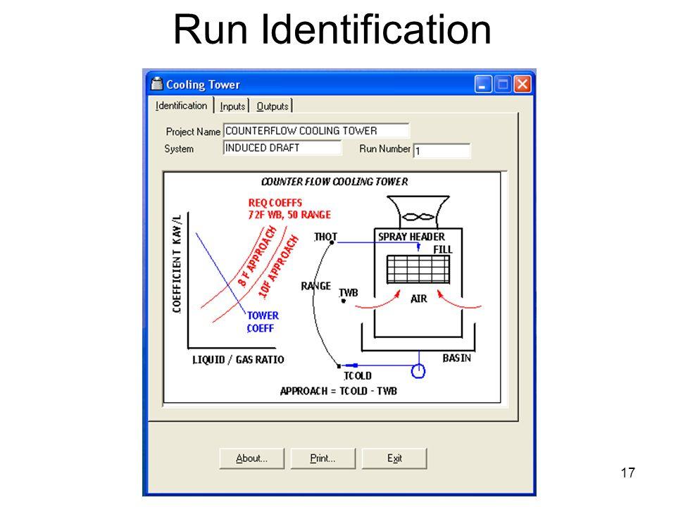 17 Run Identification