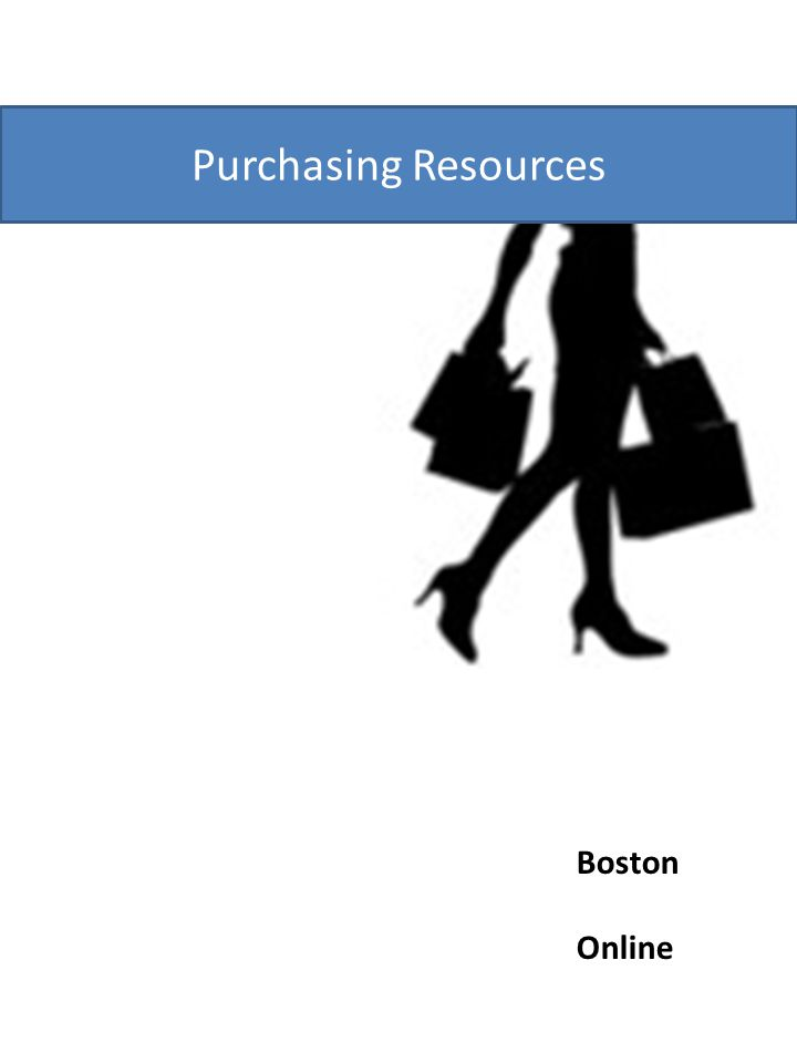 Purchasing Resources Boston Online