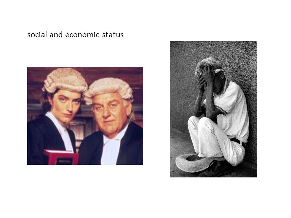 social and economic status