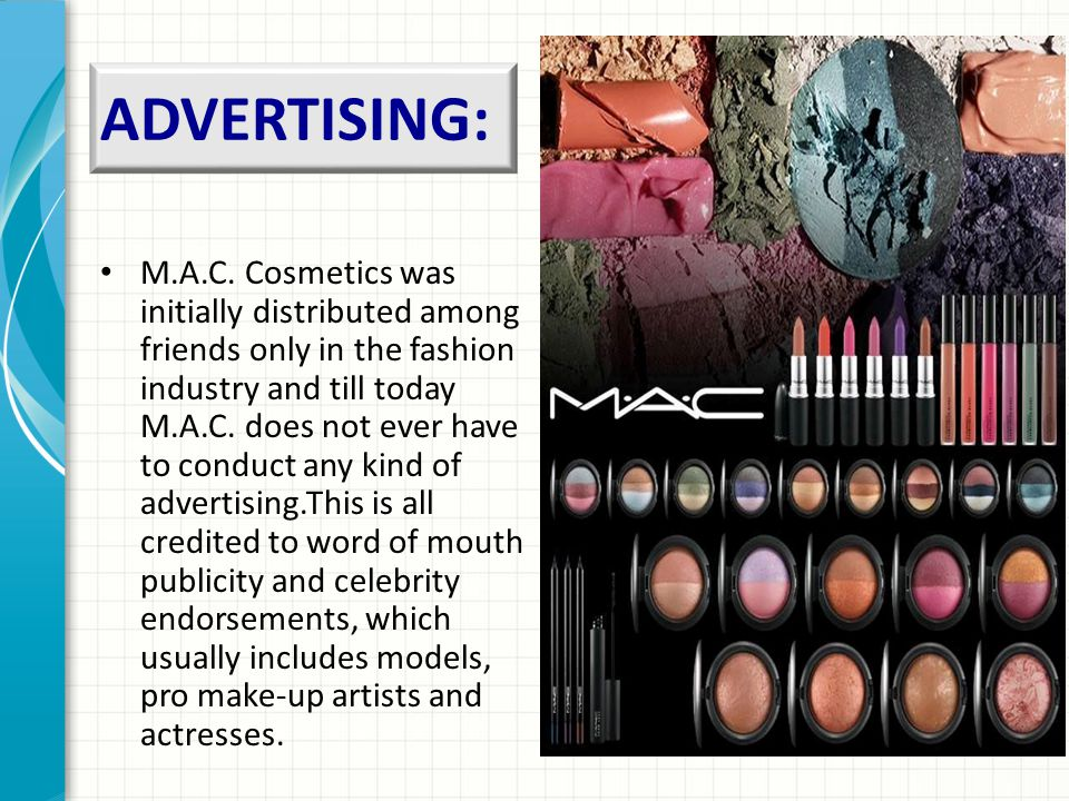 ADVERTISING: M.A.C.
