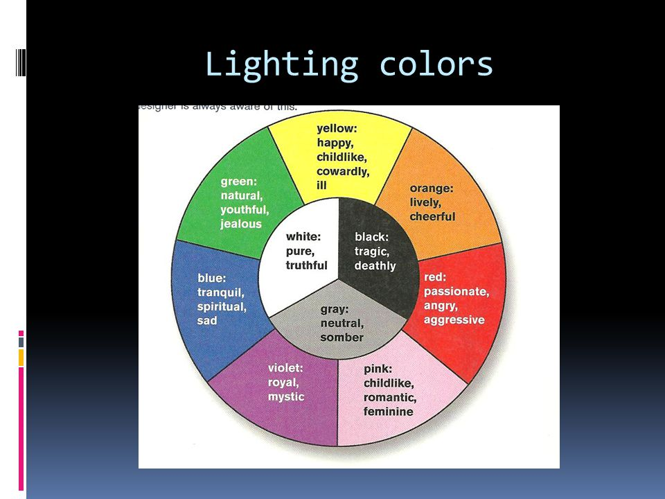 Lighting colors