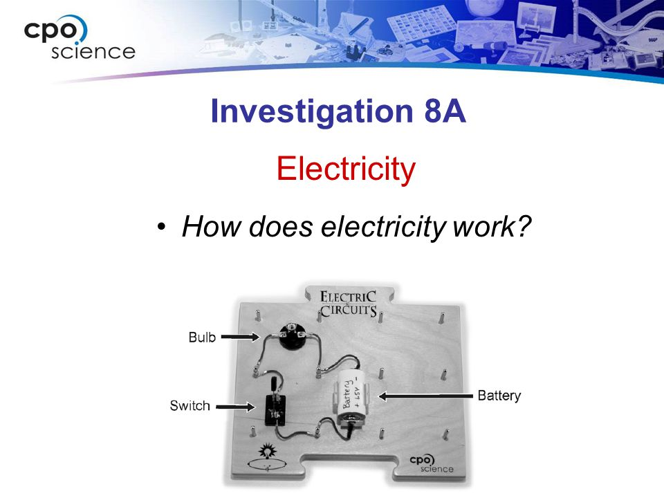 Investigation 8A How does electricity work? Electricity