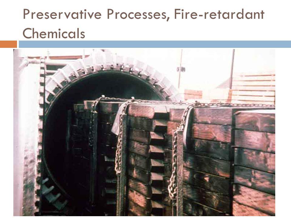Preservative Processes, Fire-retardant Chemicals