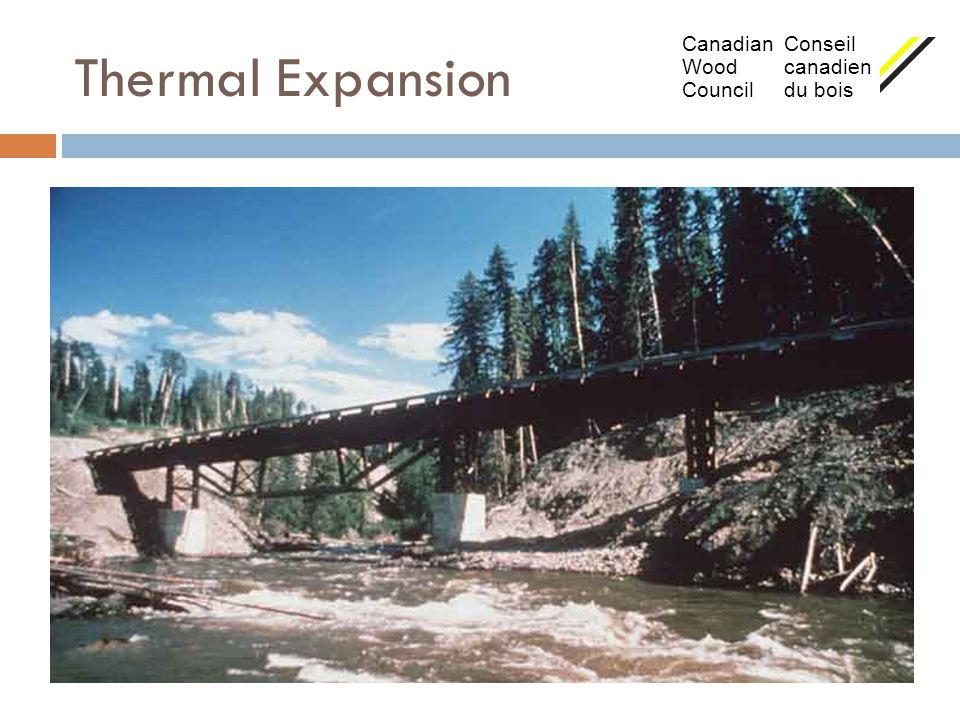 Thermal Expansion Canadian Conseil Wood canadien Council du bois