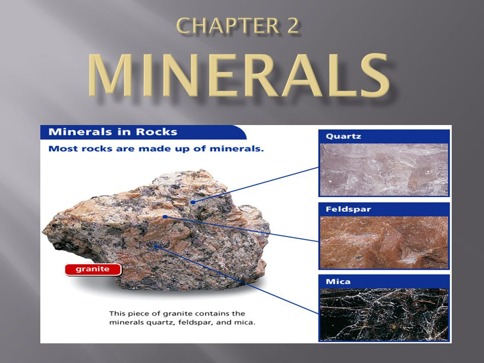 To identify a mineral, you need to observe its properties—characteristic features that identify it.
