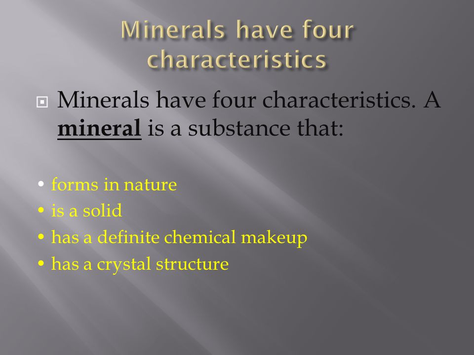 If a mineral looks like metal it is said to have what type of luster?