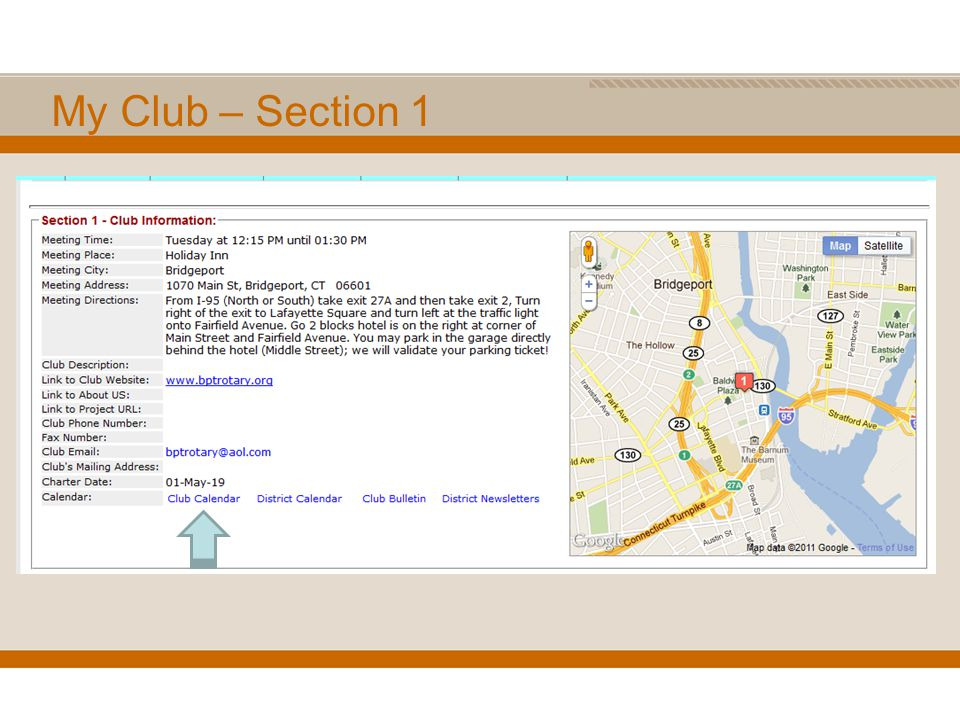 My Club – Section 1