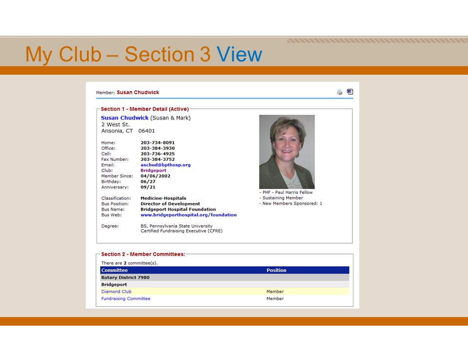 My Club – Section 3 View