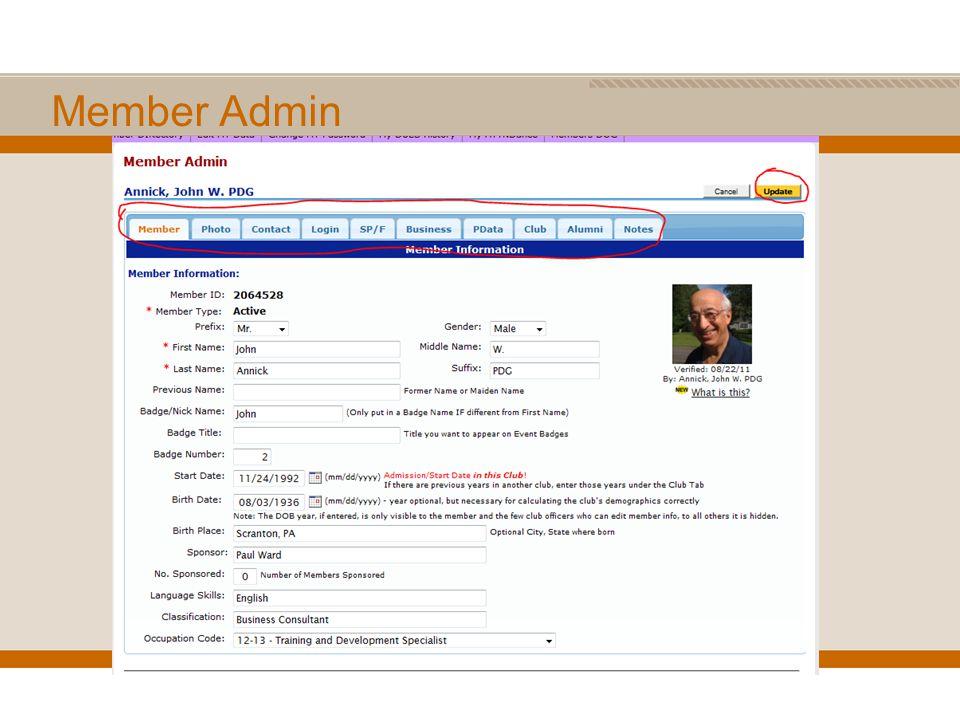 Member Admin
