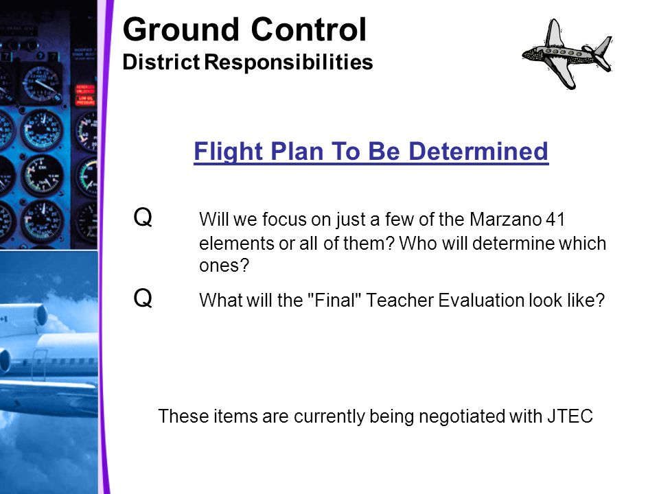 Ground Control District Responsibilities Q Will we focus on just a few of the Marzano 41 elements or all of them.