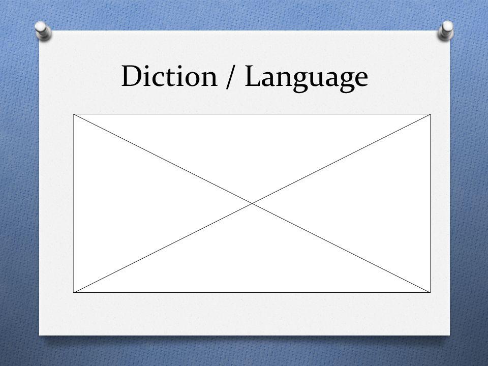 Diction / Language