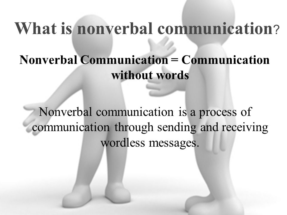 What is nonverbal communication .