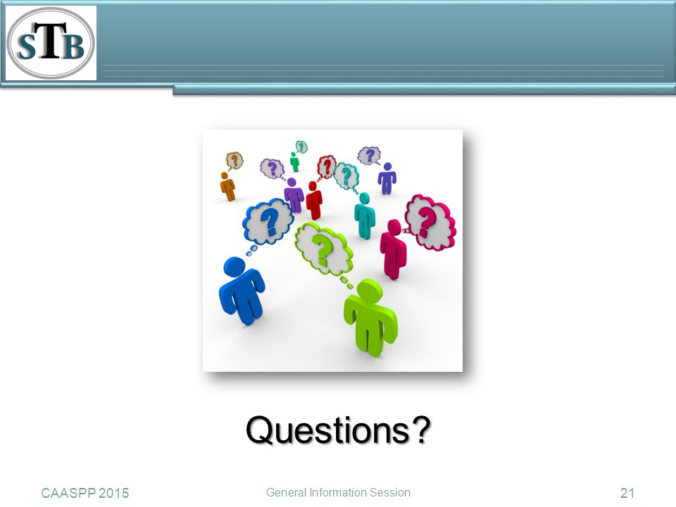 21CAASPP 2015 General Information Session Questions