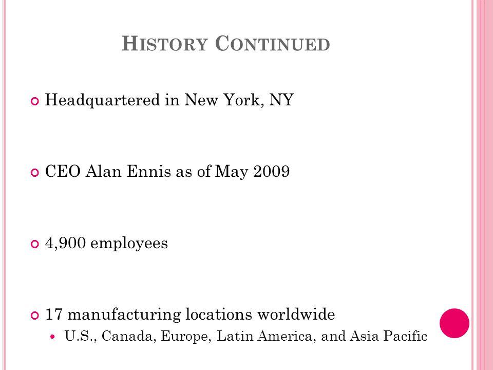 RevlonL'OrealEstee Lauder Procter & Gamble Net Sales (2010) $1.32 Billion €19.5 Billion ($26 Billion) $7.8 Billion$19.5 Billion (beauty & grooming) Net Income$327.3 M$3.13 B$616.4 M$12.7 B Employees4,90064,60031,000127,000 Geographic Scope (countries) 100130150180 Brands8232832 (beauty & grooming) R&D % of Sales 1.83.41.12.5 HeadquartersU.S.FranceU.S.