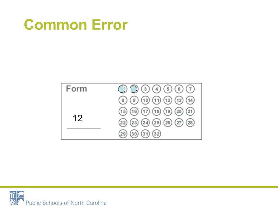 Common Error 12
