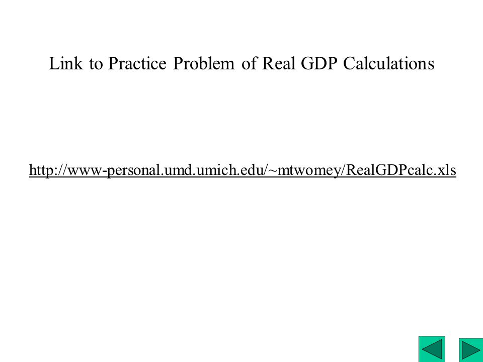 Data on US Real and Nominal GDP http://www- personal.umd.umich.edu/~mtwomey/econhelp/201files/NIPAT ableGDP.xls
