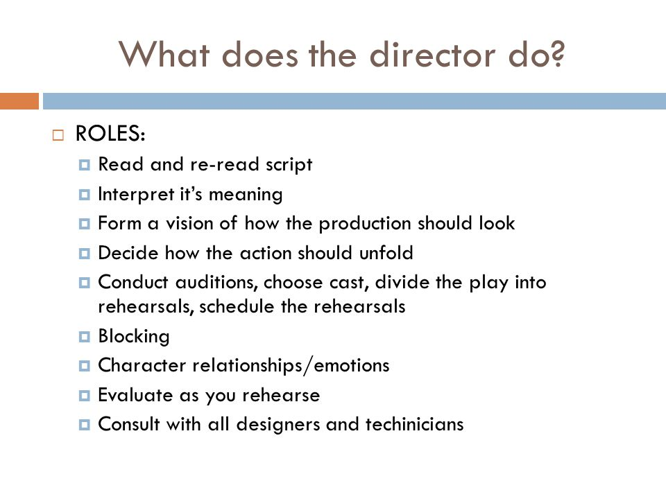 What does the director do.