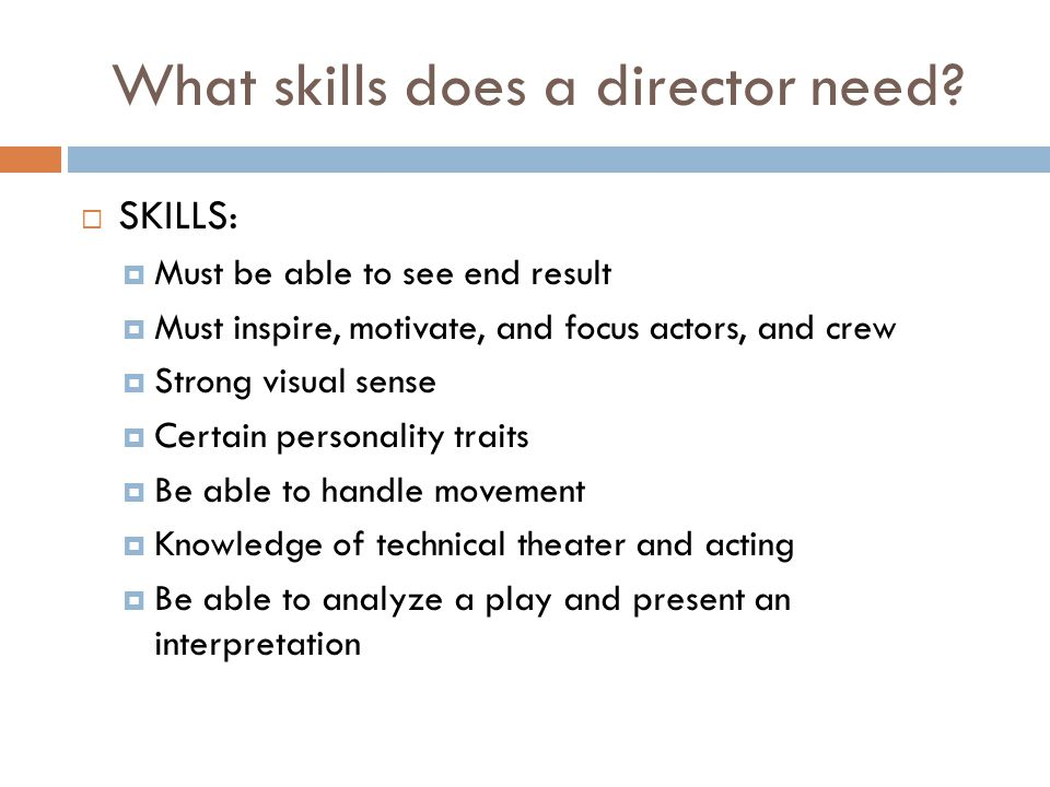 Who are part of the director's staff.
