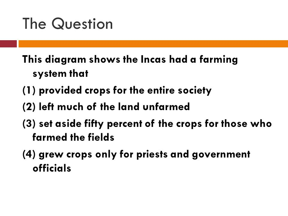 The Answer (1) provided crops for the entire society