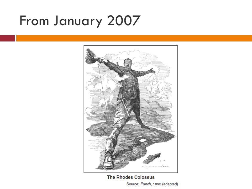 The Question Which slogan best reflects the point of view of Cecil Rhodes as shown in this cartoon.