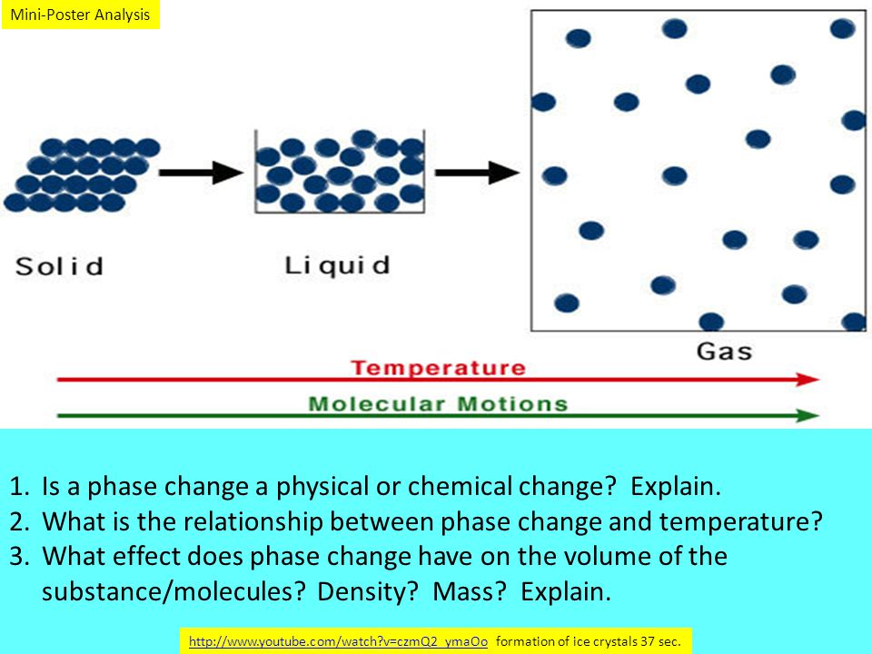 1.Is a phase change a physical or chemical change.