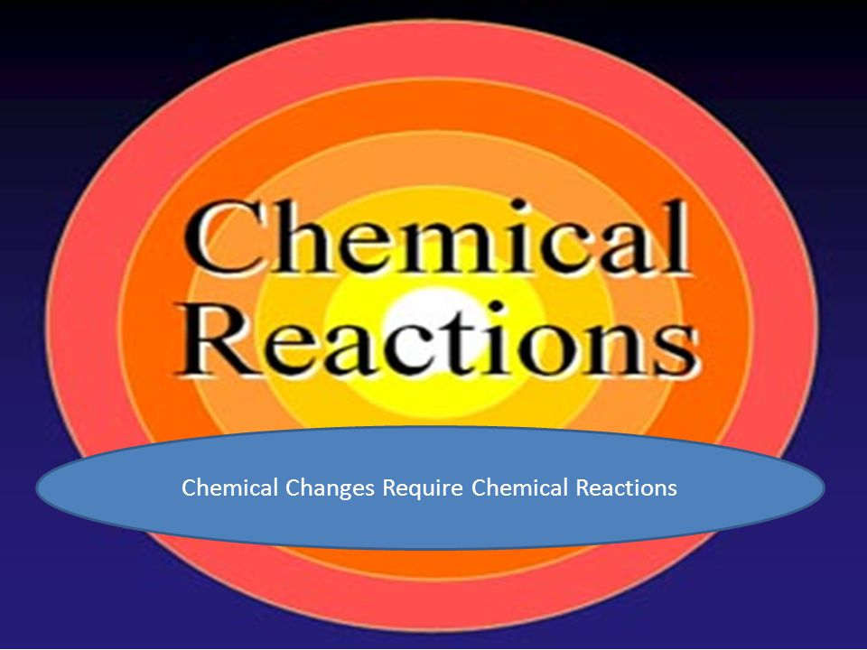 Chemical Changes Require Chemical Reactions