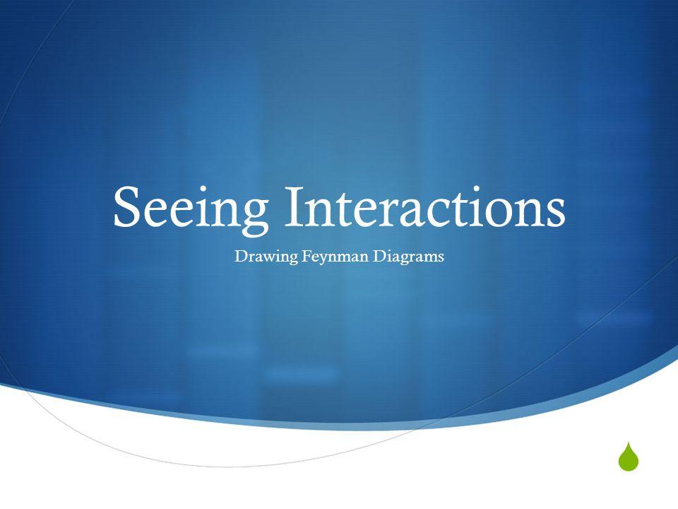  Seeing Interactions Drawing Feynman Diagrams