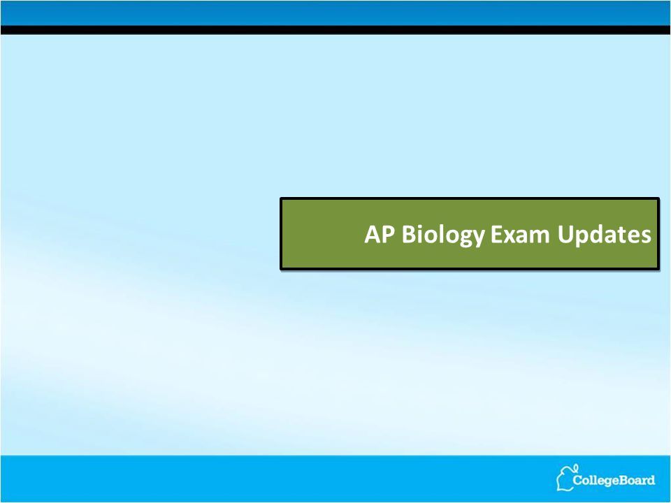 AP Biology Exam Updates