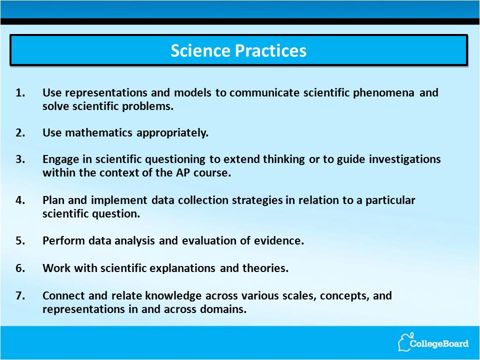 1.Use representations and models to communicate scientific phenomena and solve scientific problems.