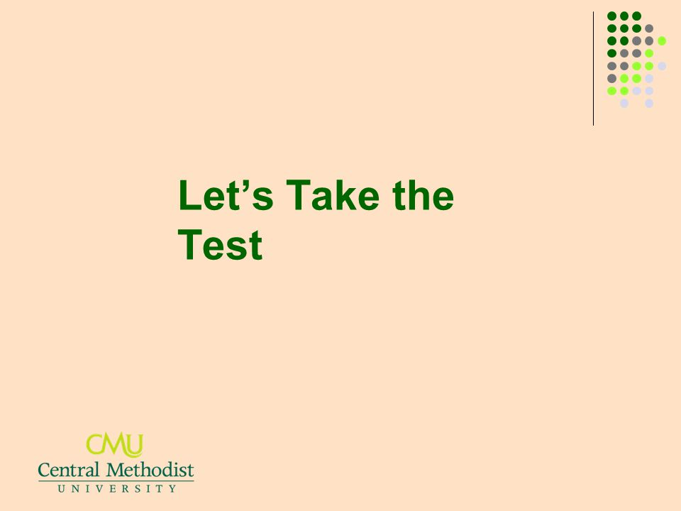 Let's Take the Test