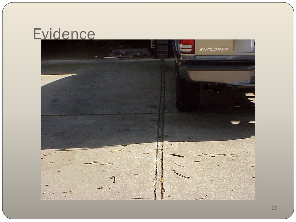25 Evidence